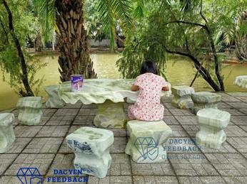 Địa chỉ cung cấp bàn ghế đá tự nhiên nguyên khối giá tốt tại Nam Định
