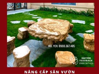 Địa chỉ cung cấp bàn ghế đá tự nhiên sân vườn đẹp tại Cần Thơ