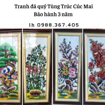 Bộ tranh đá quý Tùng - Trúc - Cúc - Mai
