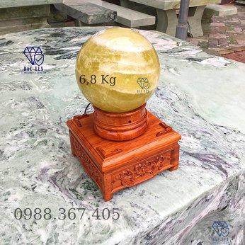 Cầu đá thạch anh vàng - 6,8 kg