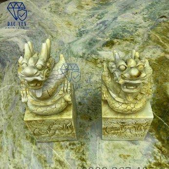 Ấn rồng đá ngọc tự nhiên