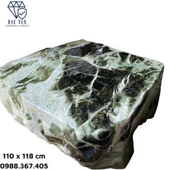 Bàn ghế đá ngọc nguyên khối - KT 110 x 118 cm
