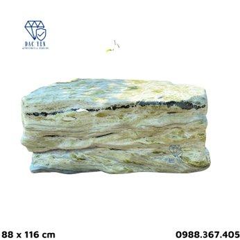 Bàn ghế đá nguyên khối nhỏ - KT 88 x 116 cm