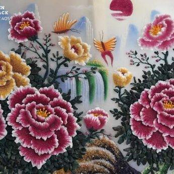 Tranh đá quý Hoa Mẫu Đơn - Mẫu Đơn Phú Quý