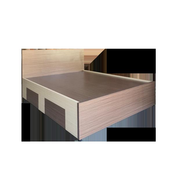 Giường Ngủ Gỗ MDF Melamine 1m6x2m Màu Nâu