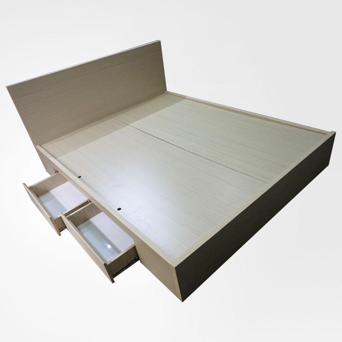 Giường ngủ MDF phủ melamine 2 hộc kéo