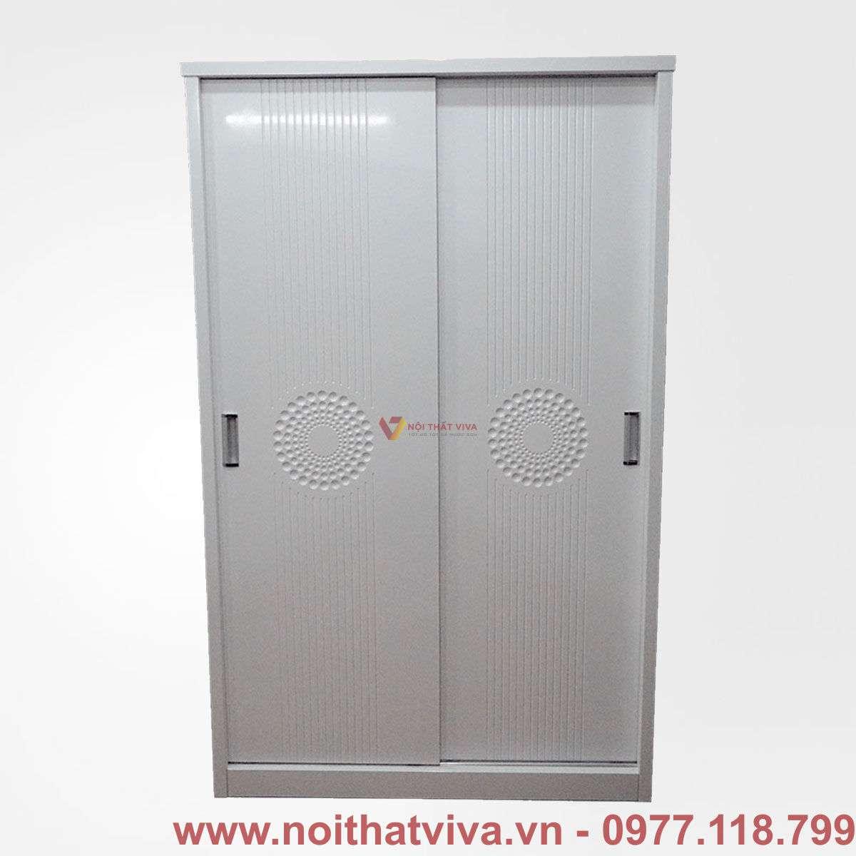 Tủ áo mdf cửa lùa màu trắng hiện đại