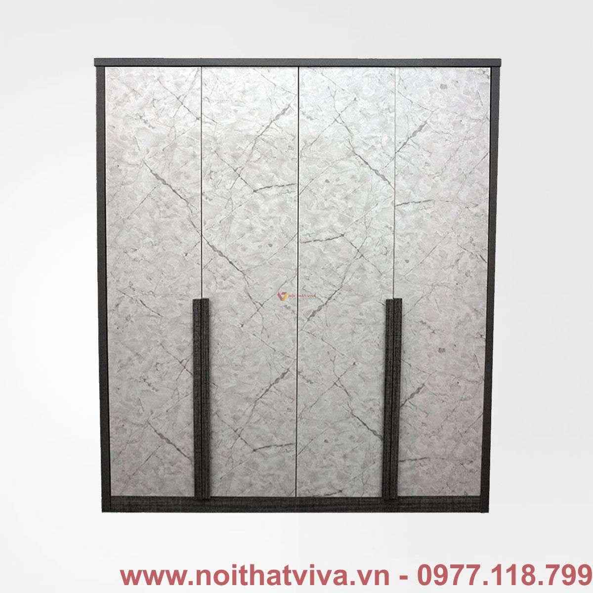 Tủ áo MFC màu vải mặt giả đá