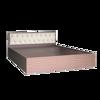 Giường Ngủ Gỗ MDF Phủ Melamine Bọc Nệm Hiện Đại Màu Nâu