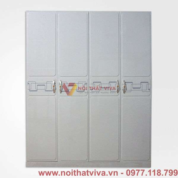 Tủ áo MDF màu trắng CNC hiện đại đẹp giá rẻ