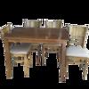 Ảnh của Bộ Bàn Ăn Cabin Gỗ Xuất Khẩu 4 Ghế Màu Xanh Rêu