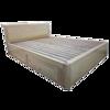 Giường Ngủ Gỗ Sồi 1m6x2m Ngăn Kéo Màu Tự Nhiên