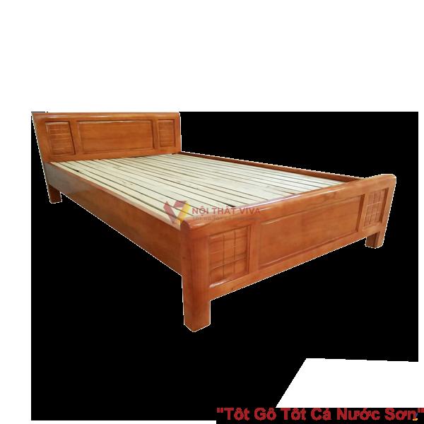 Giường Ngủ Gỗ Sồi Nga 1M2X2M Màu Cánh Gián Giá Rẻ