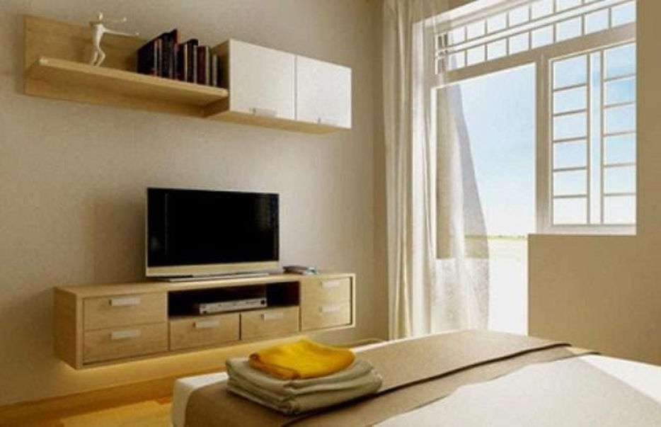 7 mẫu kệ tivi treo tường phòng ngủ được ưa chuộng nhất