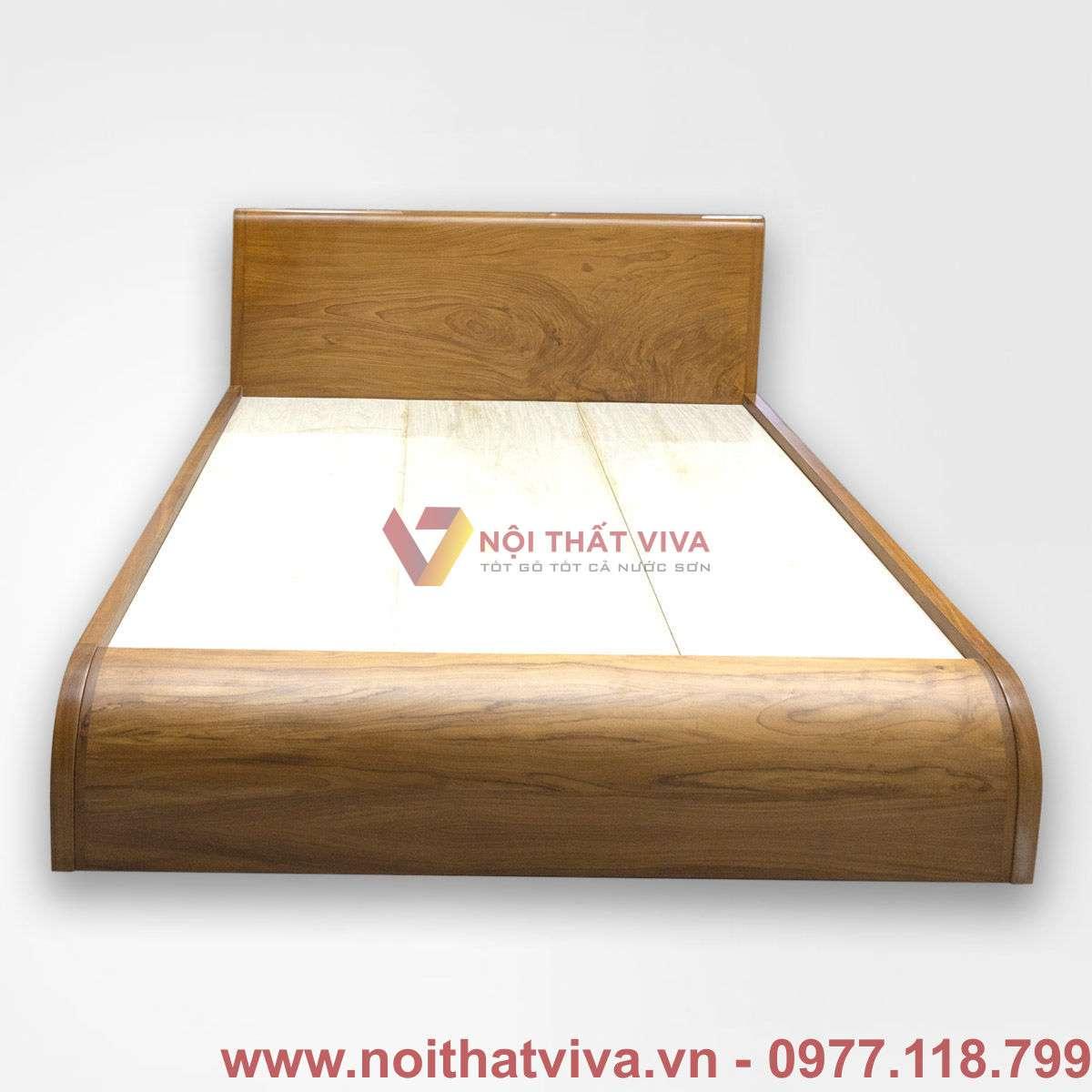 Giường Ngủ Gỗ Tự Nhiên Gõ Đỏ Cong Chữ S Đẹp Giá Rẻ