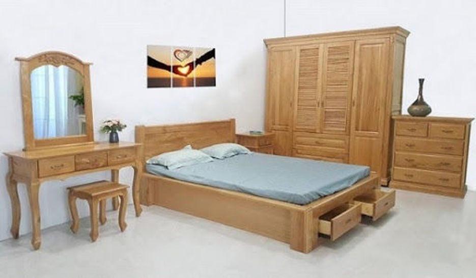 Combo bộ giường tủ phòng ngủ gỗ tự nhiên