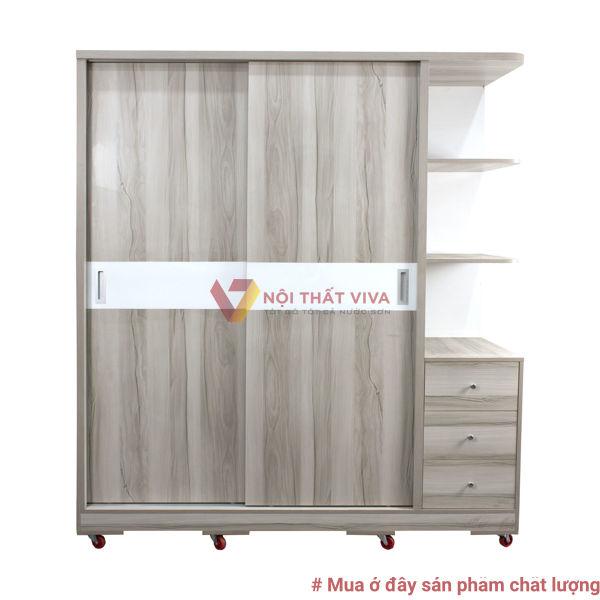 Tủ Áo Góc 1,8M Cửa Lùa Hiện Đại Đẹp Giá Rẻ