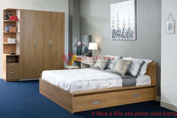 Bộ Combo Phòng Ngủ Màu Sồi Đẹp Gía Rẻ