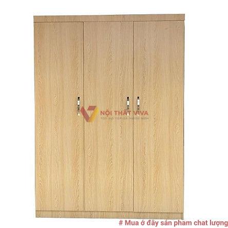 Tủ Áo Gỗ MDF 3 Cánh Melamine Màu Lim