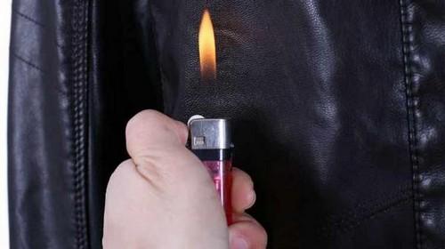 Sản phẩm bằng da thật đốt có cháy không?