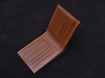 Hướng dẫn cách gấp mép và tăng cường ngăn thẻ- Cách làm ví da thủ công