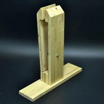 Kẹp gỗ may da