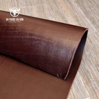 Da trâu tự nhiên màu nâu chocolate