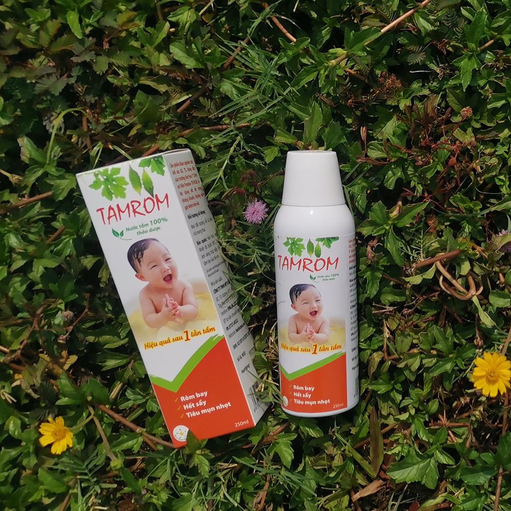 Tamrom trị rôm sảy cho trẻ từ thảo dược
