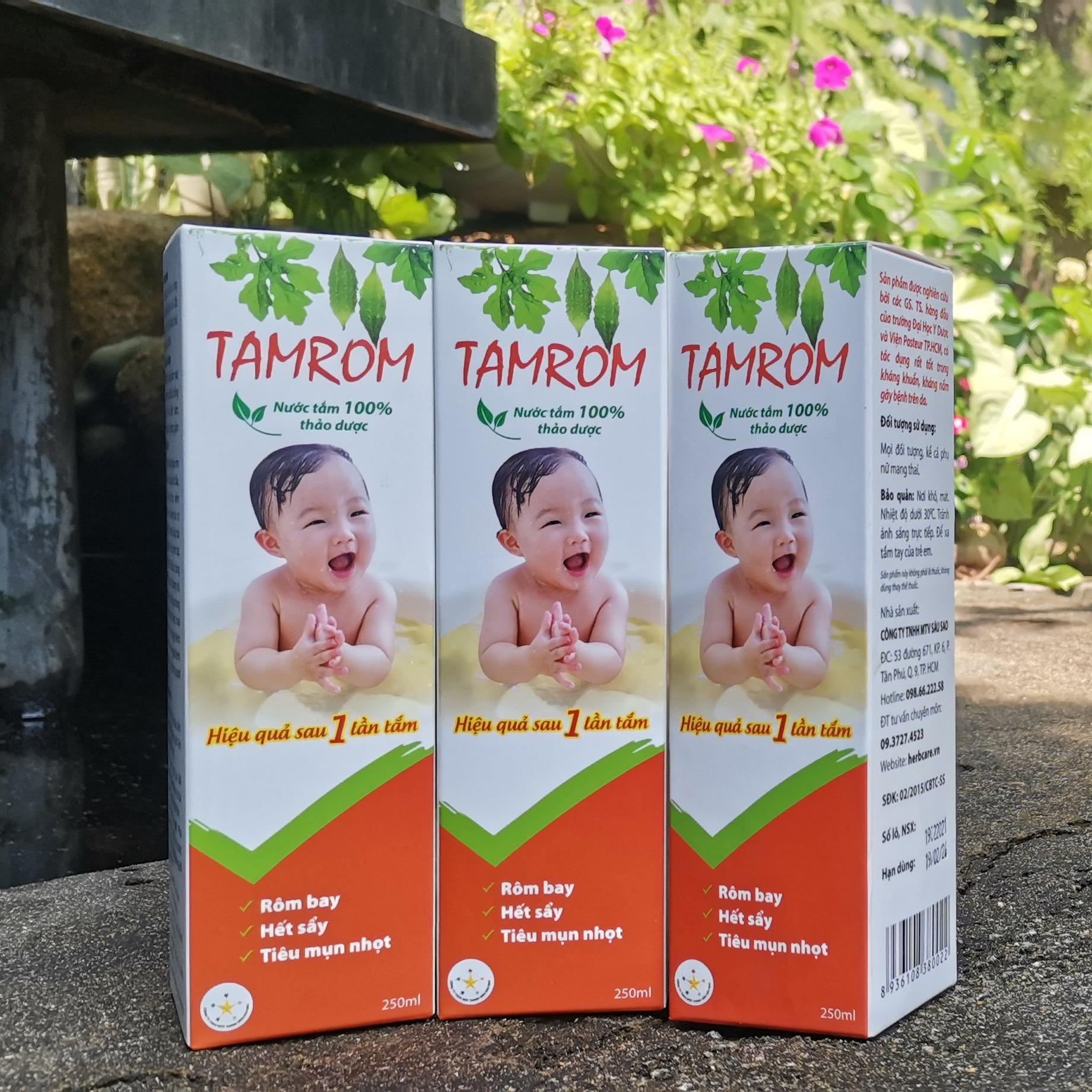 Combo 5 hộp nước tắm thảo dược trị rôm sảy Tamrom