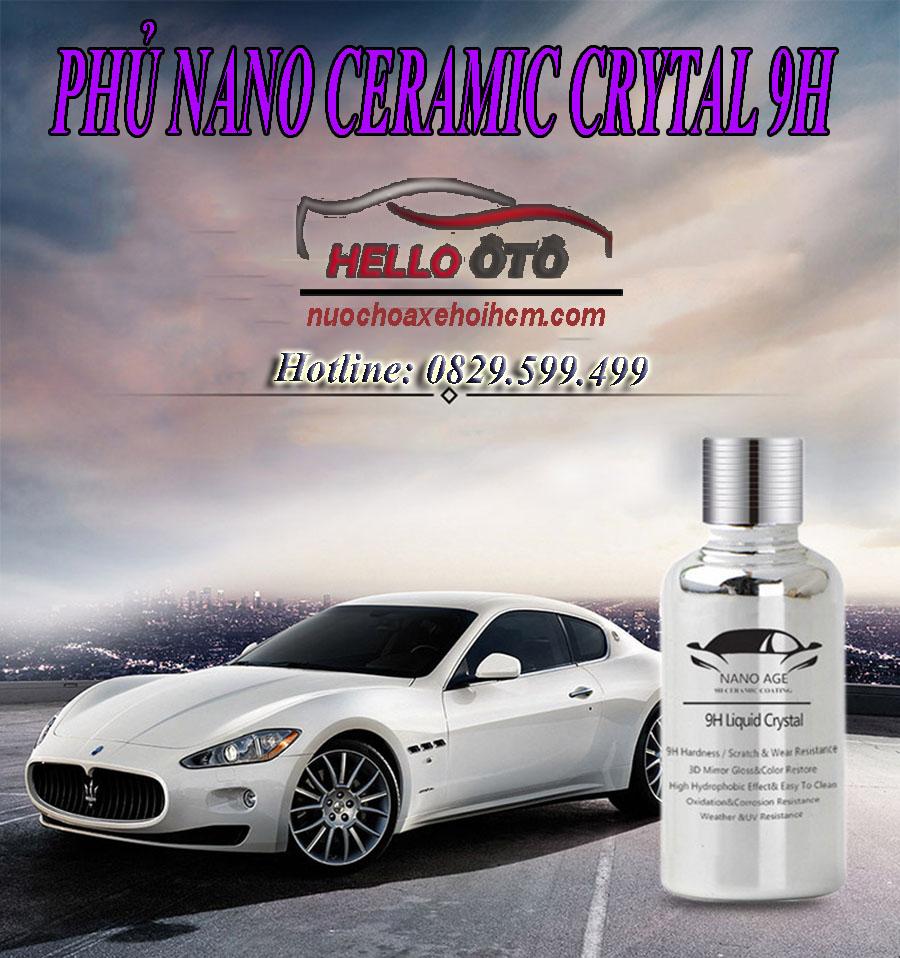 Phủ Nano Ceramic Crystal 9H - Hello OTO