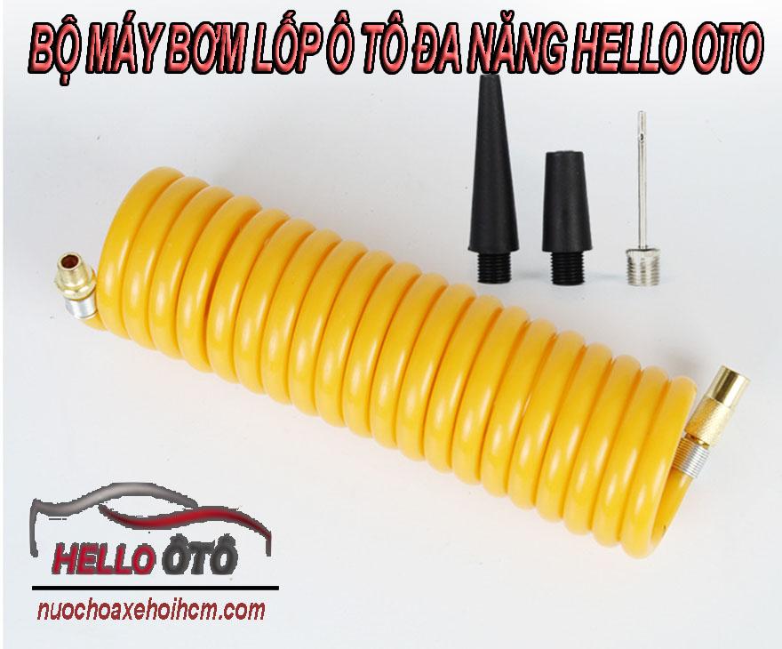 BỘ Máy Bơm Lốp Ô tô Đa Năng Hello OTO