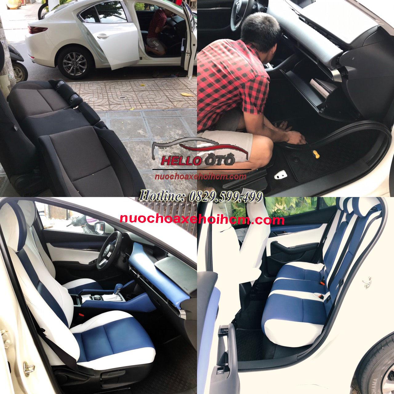 Bọc da áo ghế Mazda 3 2020 Đổi màu nội thất