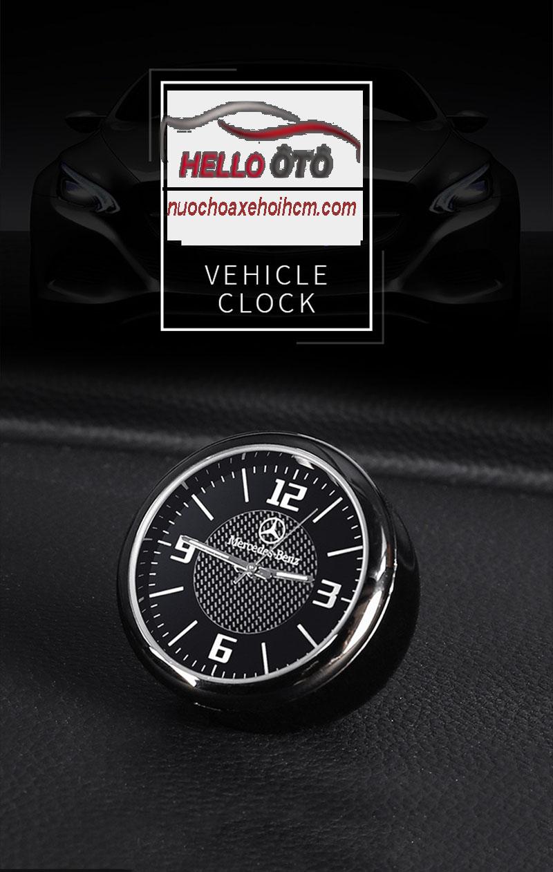 Đồng hồ trang trí xe ô tô Mercedes - Phụ kiện sang trọng và đẳng cấp