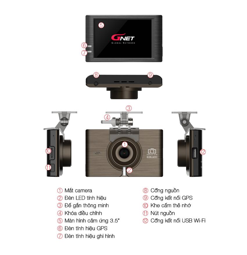 Camera Hành Trình GNET G-BLACK Chính Hãng