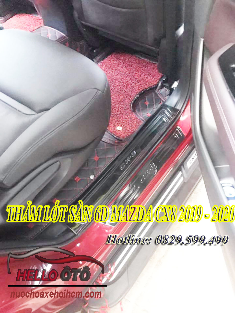 Thảm Lót Sàn 6D Mazda CX8 2019 - 2020