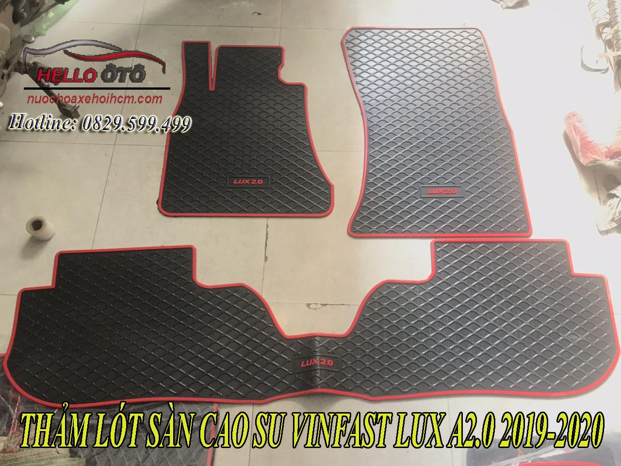 Thảm lót sàn ô tô cao su 3D Vinfast Lux A2.0 2019-2020