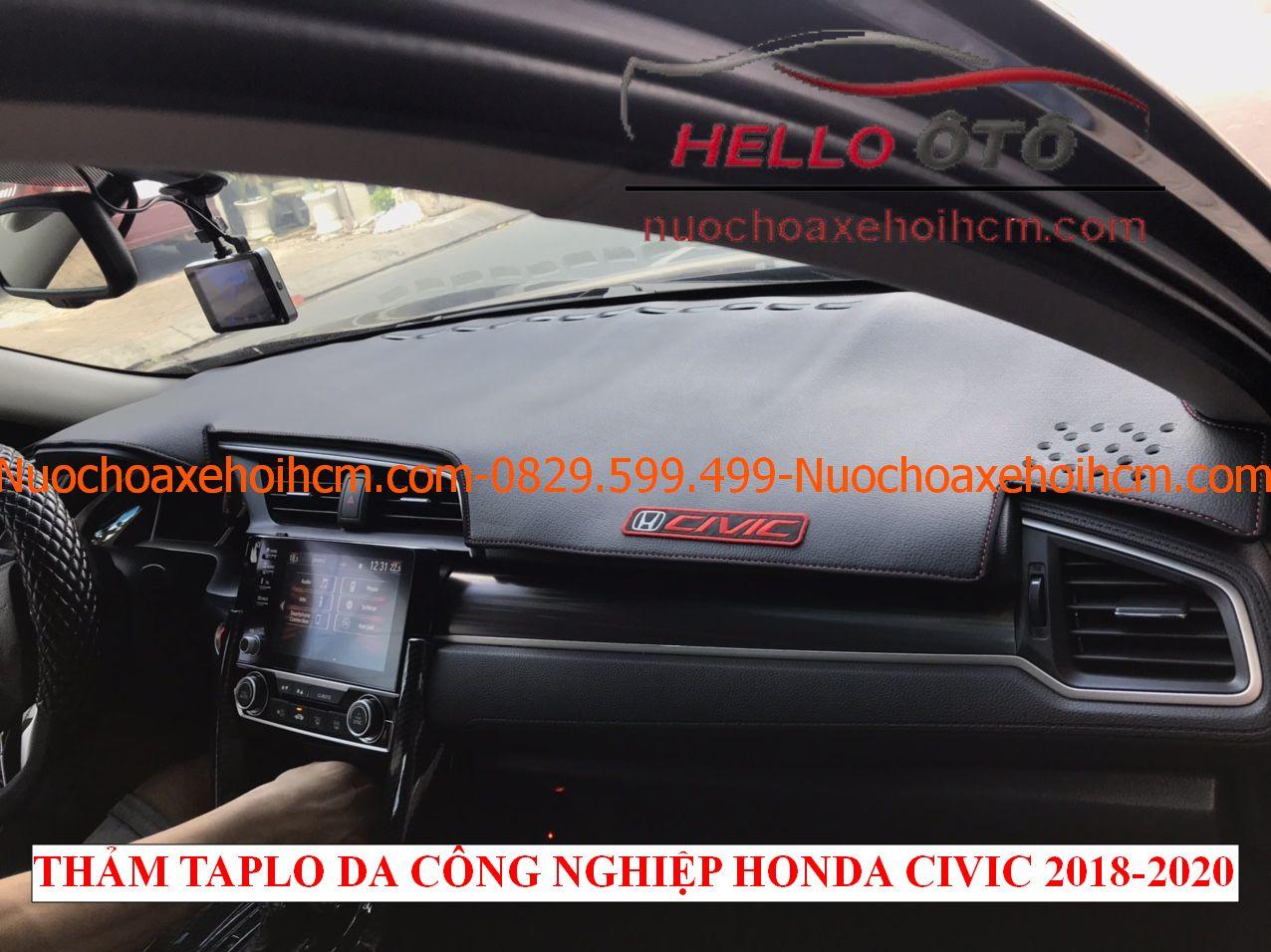 Thảm taplo da công nghiệp chống nắng Honda Civic 2018-2020