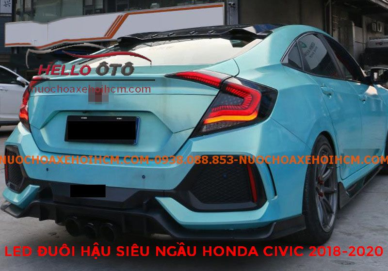 Thay cụm đèn led siêu ngầu Honda Civic 2019 2020