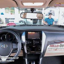Thảm Taplo Da Vân Cacbon Toyota Vios 2019