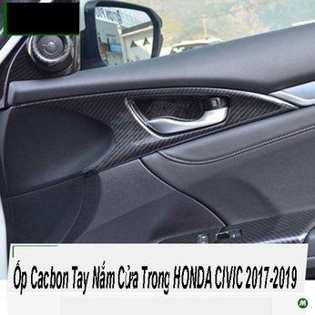 Ốp Cacbon Tay Nắm Cửa Trong HONDA CIVIC 2017-2019