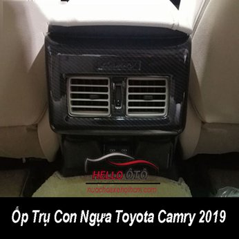 Ốp Cacbon Trụ Giữa Con Ngựa Toyota Camry 2019