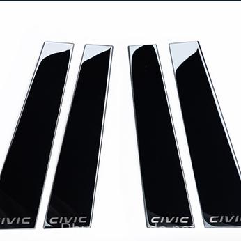 Ốp cột cửa màu đen sáng gương cho Civic 2016-2020