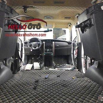 Bọc sàn ô tô toyota fortuner 2018 Da 6D