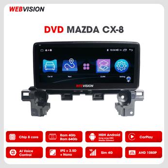 Màn hình DVD Mazda CX8 Webvision - Trải nghiệm thú vị hơn với hai hệ điều hành song song