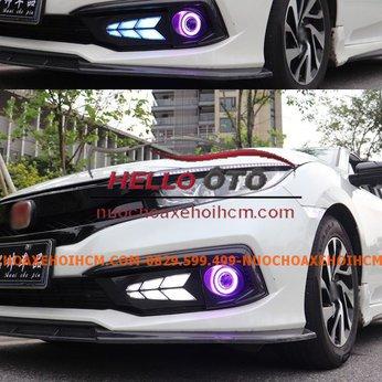 Đèn Led Sương Mù Phía Trước  Mắt Quỷ Honda Civic 2018-2020 Mẫu 2