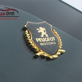 Logo Peugeot 5008 3008 Vàng Đồng Dán Kính