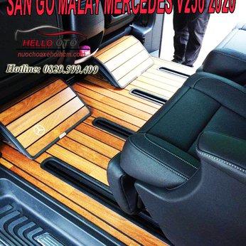 Lót sàn gỗ malaysia cho Mercedes V250 Luxury 2020