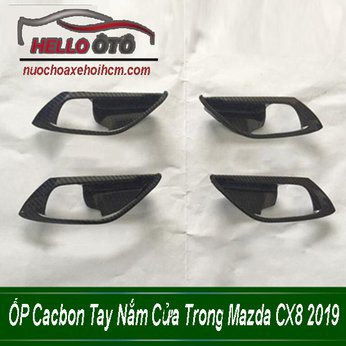 ỐP Cacbon Tay Nắm Cửa Trong Mazda CX8 2019