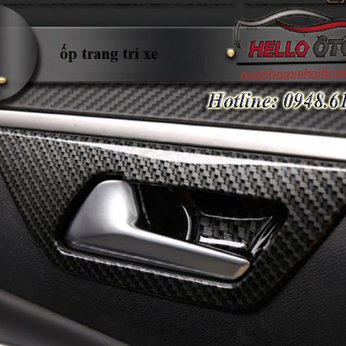 Ốp cacbon chống xước hõm xe Peugeot 3008 All New Peugeot 5008