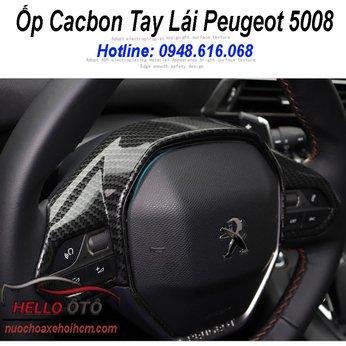 Ốp Cacbon Mặt Vô Lăng Peugeot 5008 Peugeot 3008 All New